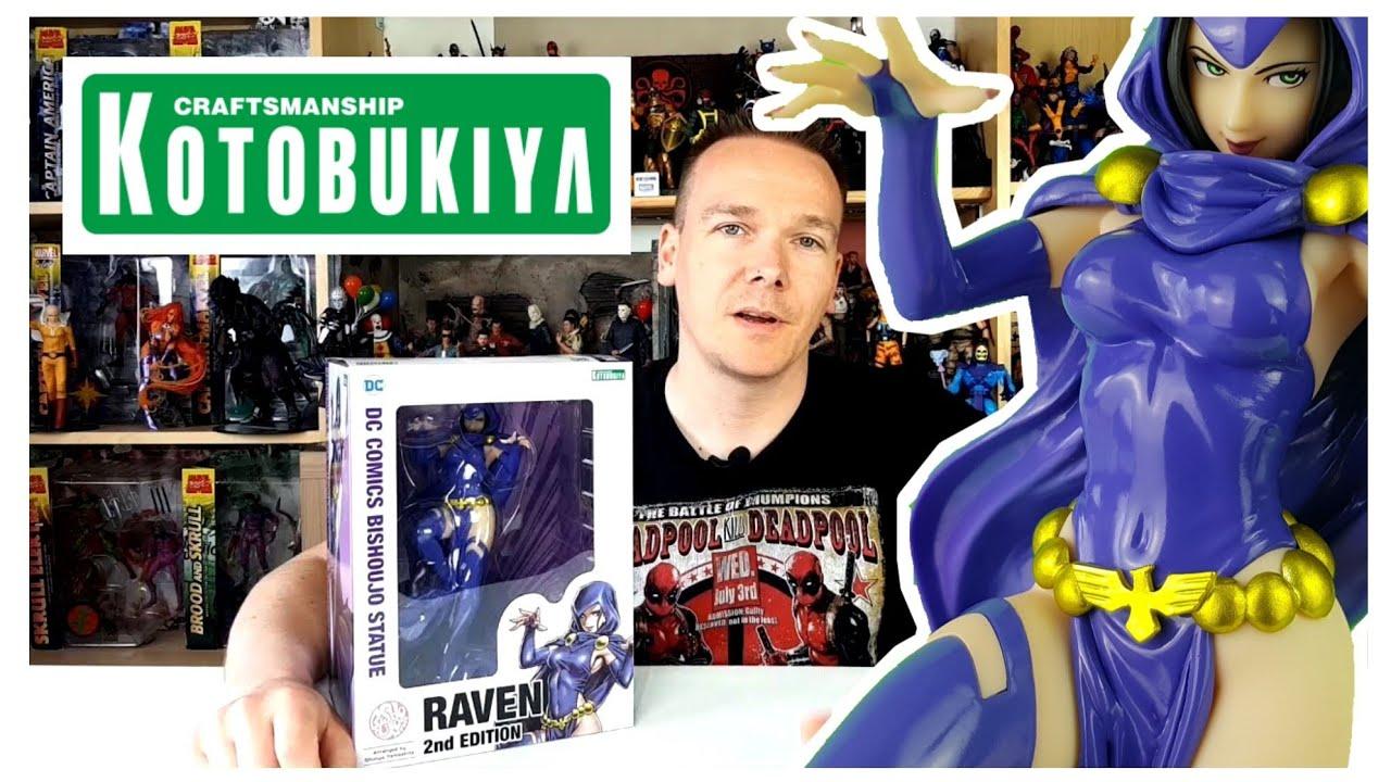NEW Official Kotobukiya DC Comics Bishoujo 1//7 Raven 1st Edition Figure