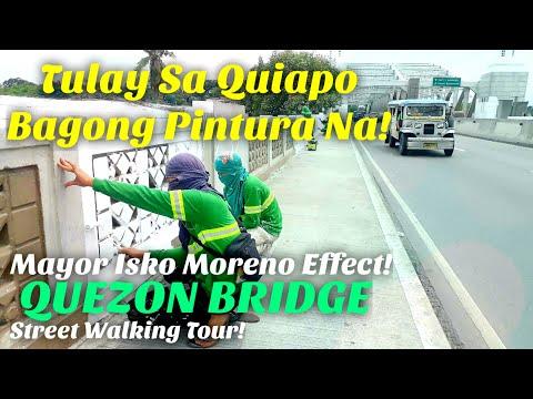 ANG LUMANG TULAY MAPUTI NA AT MALINIS! QUEZON BRIDGE QUIAPO MANILA STREET WALKING TOUR!