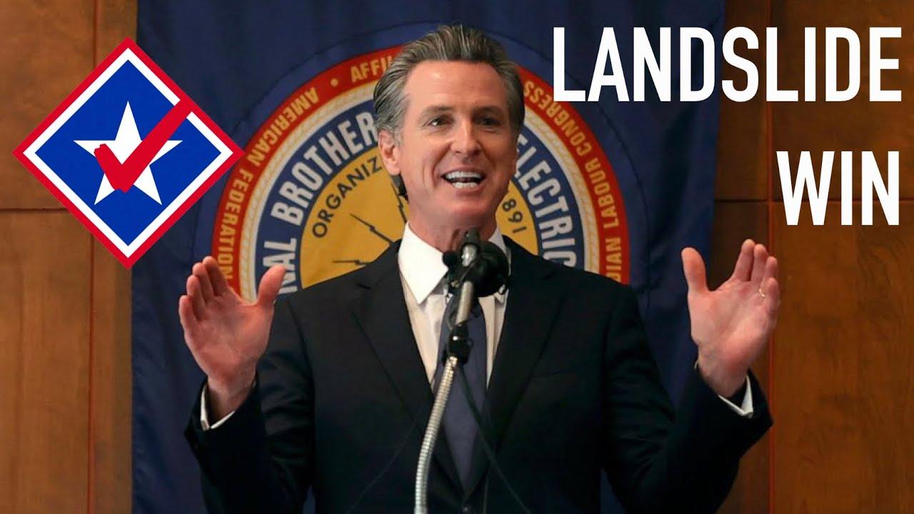 Gavin Newsom Wins Recall in Landslide Margin