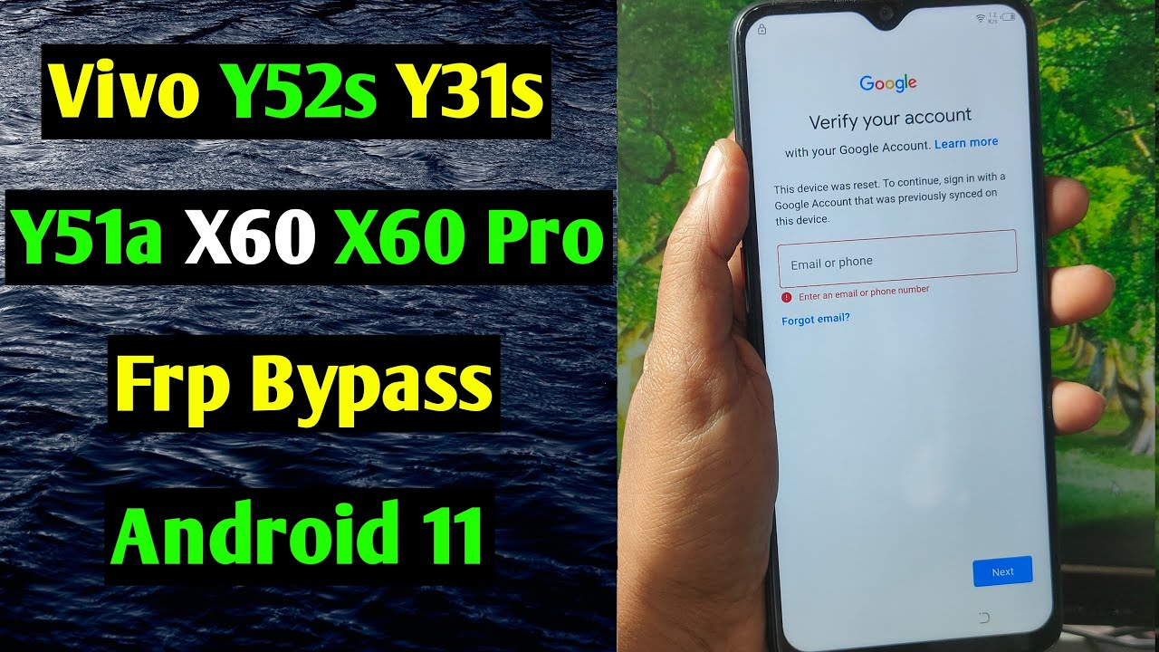 Vivo X60/Y52S/Y31S/Y51A/X60 Pro Frp Bypass/Unlock Google Account Lock Android 11 | Without PC