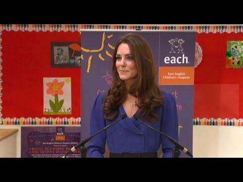 Duchess of Cambridge's first public speech