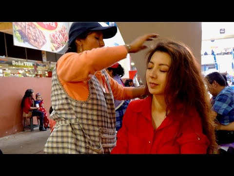 ASMR Limpia Espiritual (spiritual Cleansing) And Street Massage/cracking By Doña Esperanza In Cuenca