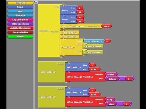 Arduino grafisch programmieren mit Ardublock Tutorial 1