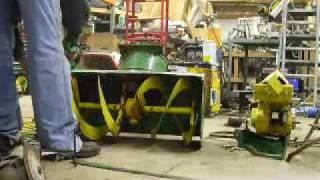 John Deere 1032 Snowblower Repair & Modification Video Part #1