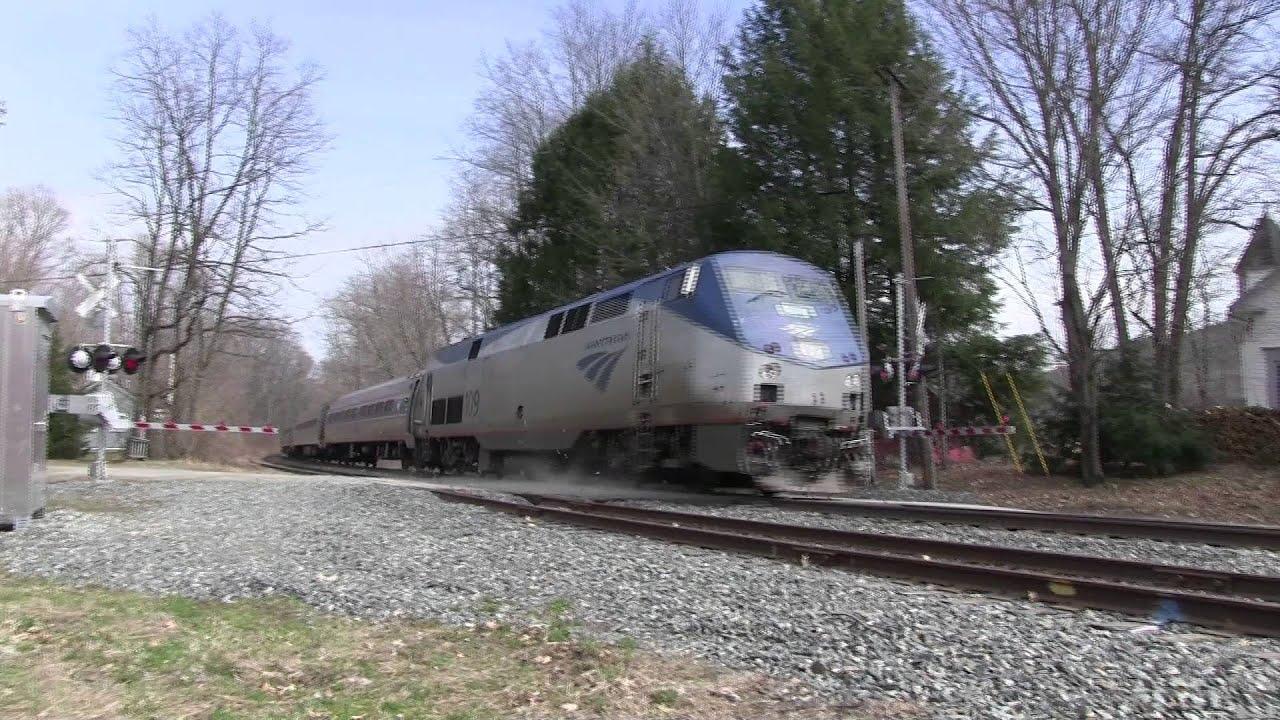 Amtrak's Vermonter 55 Rolls through Putney, VT - March 31 ...
