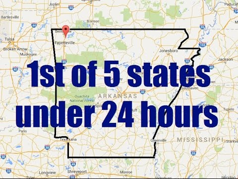 "Metal Detecting 5 states in less than 24 hours-Part 1 ""Arkansas"""