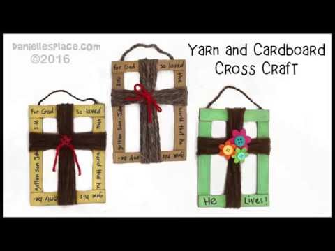 Cardboard And Yarn Cross Craft