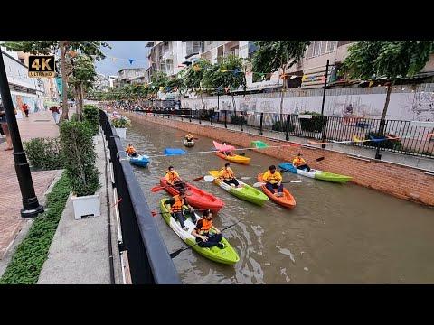 Bangkok Opening Up - FREE Kayaks at Ong Ang Walking Street 🇹🇭 Thailand