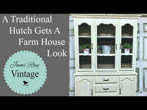 A Traditional Hutch Gets A Farm House Look | Hutch Makeover