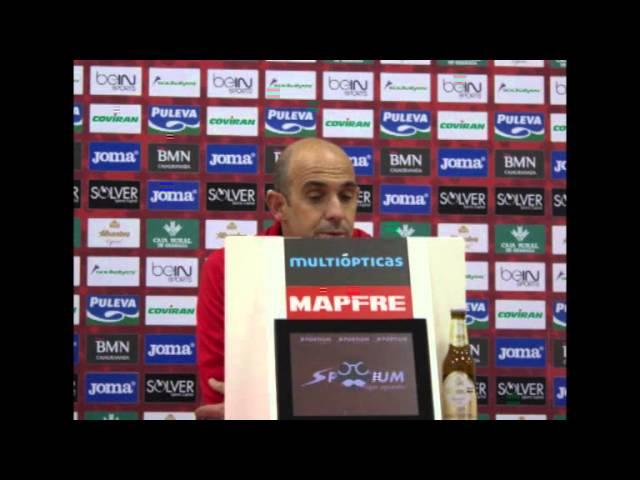Rueda de prensa de Alberto Monteagudo tras el partido contra el Granada B