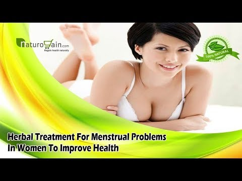 Herbal Treatment For Menstrual Problems In Women To Improve Health