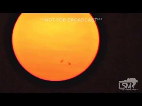 8-25-15 Omaha, NE Smoky Sunspot Sunset