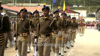 March-past presented by the contingents of Police during Mandi Shivratri