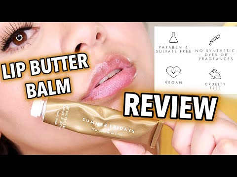 NEW Summer Fridays Lip Butter Balm Review *extra dry lips*