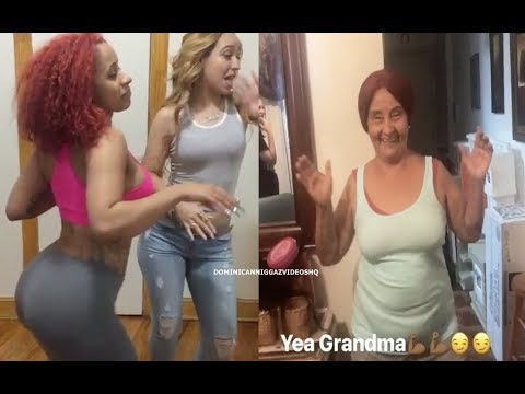 Cardi B And Her Grandma Dancing Merengue Típico Funny!