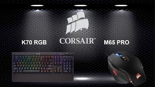 Finishing Touches Corsair CG K70 RGB Mechanical Keyboard + Corsair M65 PRO Mouse