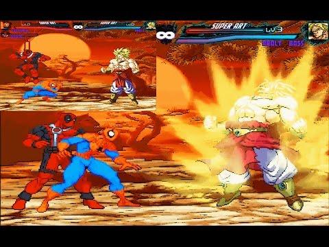 Mugen : Spiderman U0026 Deadpool Vs Broly (Request)