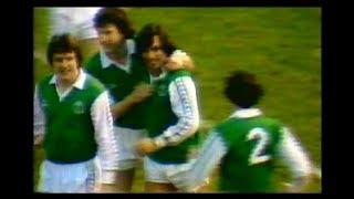 George Best Stars for Hibernian Against Celtic 1980