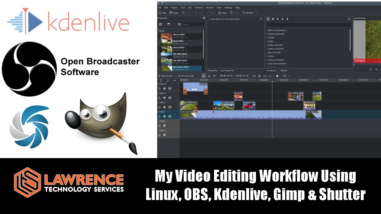 My Open Source Video Editing Workflow Using Linux, OBS, Kdenlive, Gimp &  Shutter