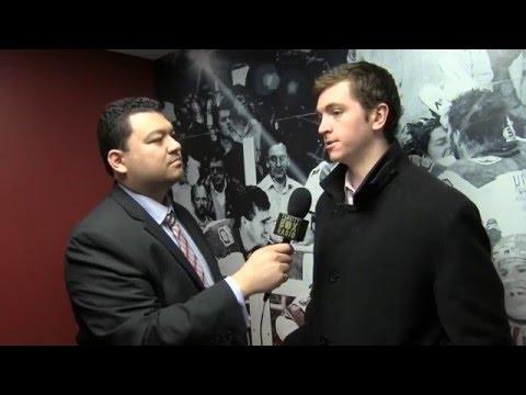 Harvard Crimson post game: Jimmy Vesey & Tyler Moy