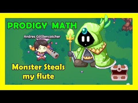 Monster Steals My Flute Prodigy Math Game Mission 9 Looking