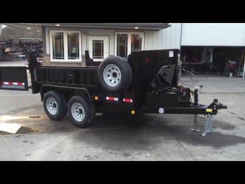 QSA 6x10 9990# GVW Low Profile Hydraulic Dump Trailer QSA7210D1R-B-100