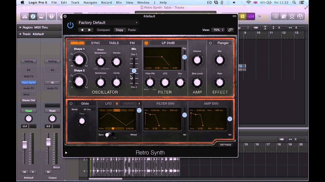 Logic Pro X (10 1) tutorial - New Features in Retro Synth