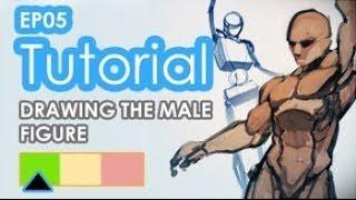 Рисование персонажей (урок #5) | Как рисовать мужскую фигуру