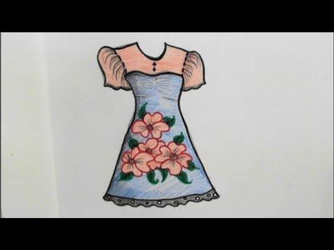 رسم فستان للمبتدئين Drawing Dress For Beginners Youtube