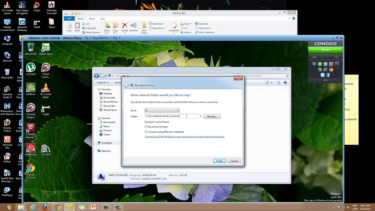 how to remap a network drive