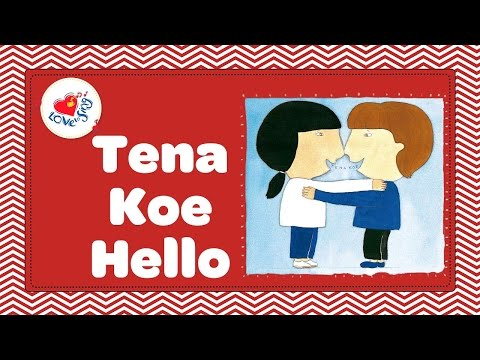 Tena Koe | Maori Hello Song with Lyrics | Children Love to Sing