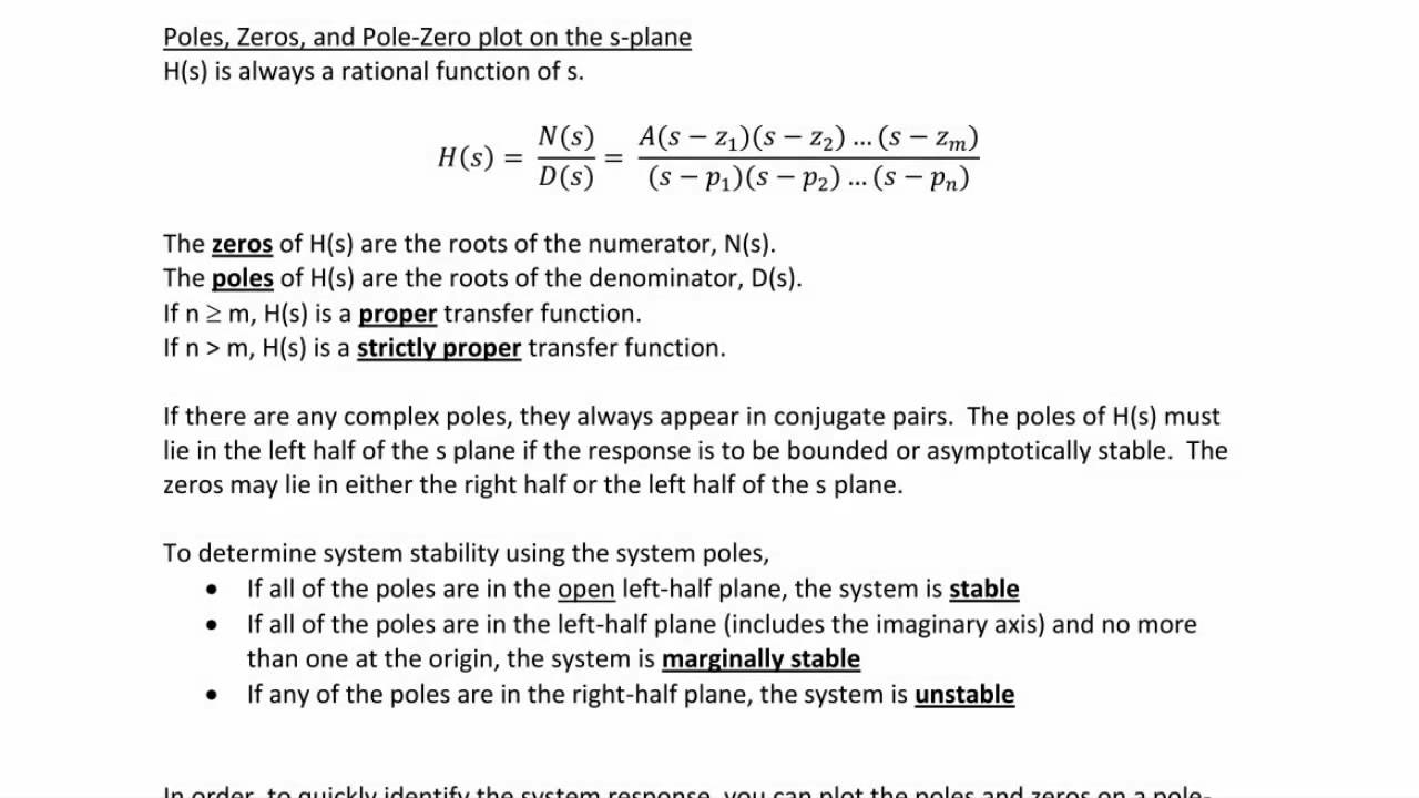 Ece205 lecture 7 2 transfer functions poles and zeros youtube ece205 lecture 7 2 transfer functions poles and zeros ccuart Image collections