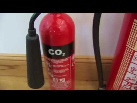 Fire extinguisher Collection: Powder, CO2, Foam and Water ad
