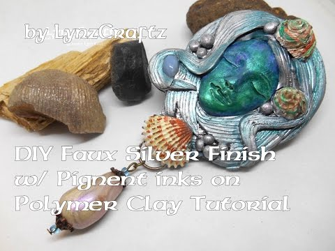 DIY Faux Silver Finish Using Pigment Inks on Polymer Clay Tutorial