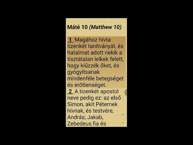 Máté evangéliuma - 10. fejezet (olvasás és magyarázat)