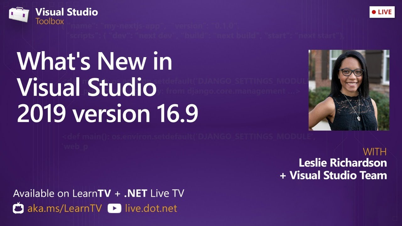 Download Visual Studio Toolbox Live - What's New in Visual Studio 2019 version 16.9?