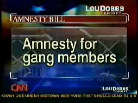 Amnesty Bill Lou Dobbs - Piece of &*$%