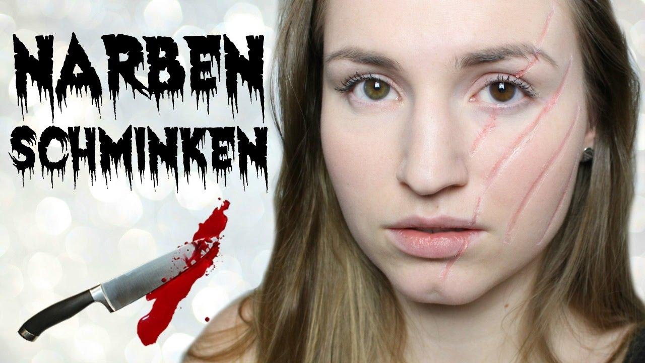 Narben Schminken Wie.Halloween Narben Tutorial Lena S Lifestyle Youtube