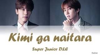 Super Junior D&E - Kimi ga naitara (キミが泣いたら) | Kan-Rom-Eng | Color Coded Lyrics