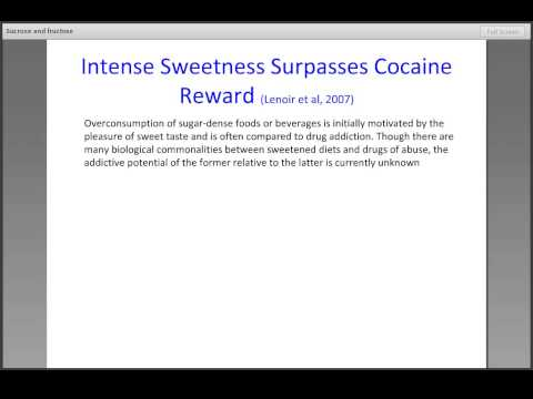 Sucrose and Fructose - more addictive than cocaine