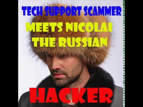 """Tech Support scammer Versus """"Nicolai"""" the russian hacker."""
