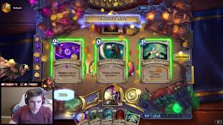 Firebat is trying an extremly long Yogg with a Shadow Visions Un'Goro Priest
