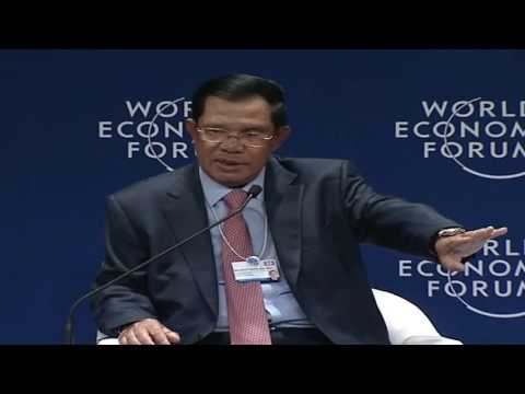 Image result for Prime Minister Hun Sen at Davos