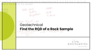 Geotech - Find the RQD of a Rock Sample