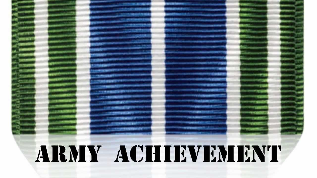 army achievement medal medals of america youtube