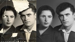 Реставрация фото в Photoshop | Old damaged photo Restoration