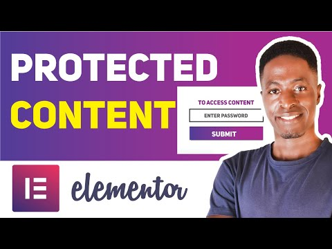 HOW TO PASSWORD PROTECT CONTENT USING ELEMENTOR