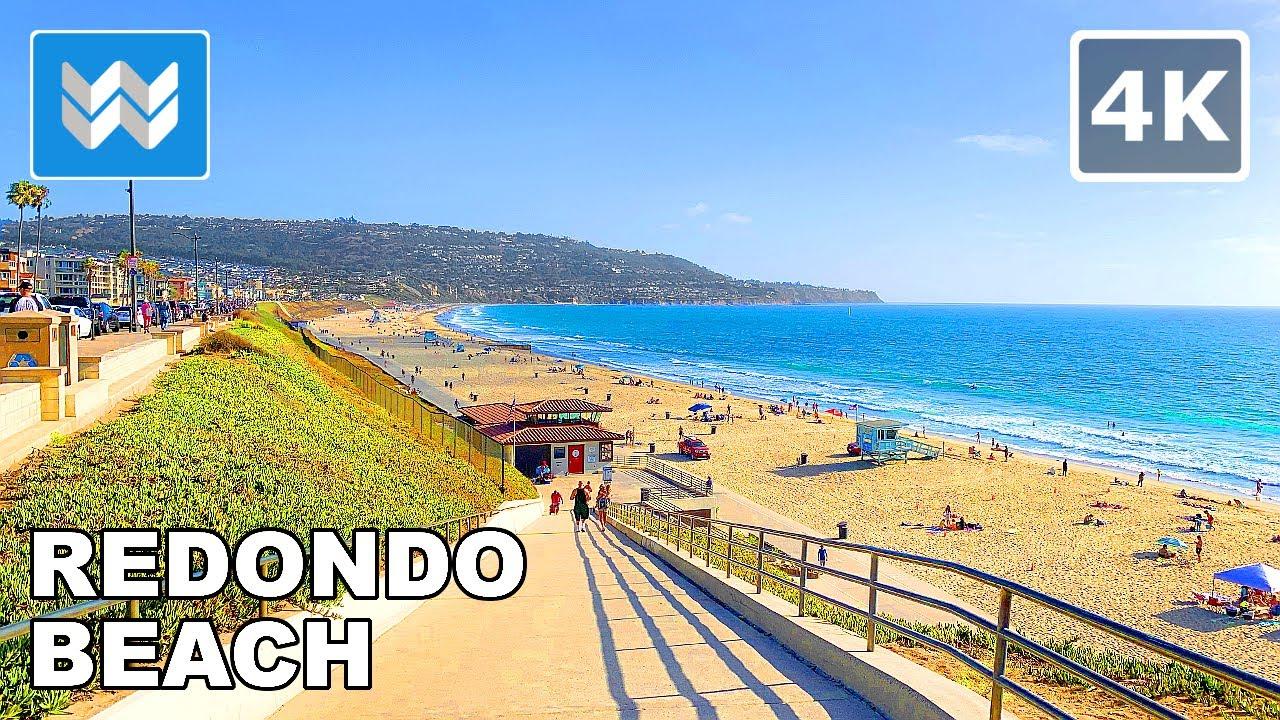 4K Scenic Walk: Redondo Beach Esplanade in South Bay Los Angeles, California 2020 🎧