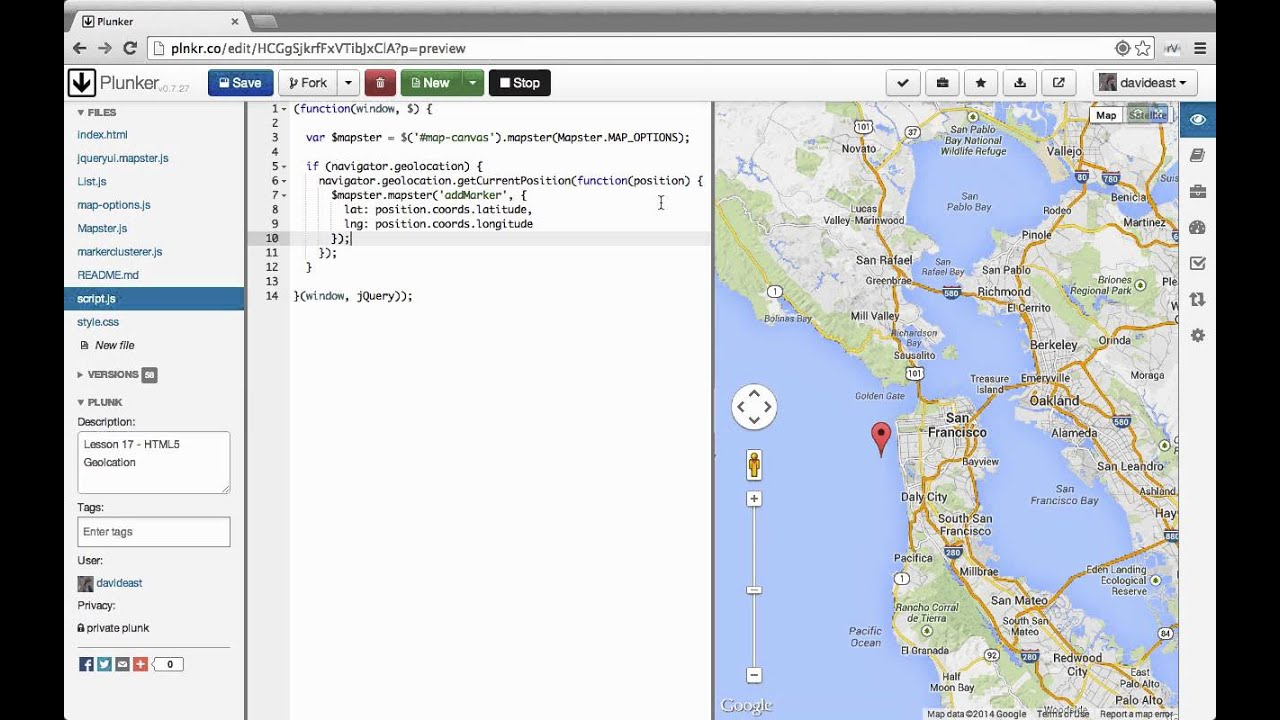 Custom interactive maps with the google maps api 17 html5 custom interactive maps with the google maps api 17 html5 geolocation gumiabroncs Image collections