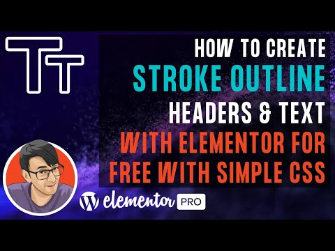 Create Stroke Outline Text in Elementor with Simple CSS for Free